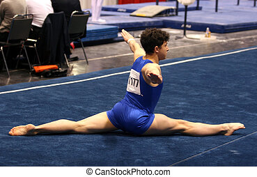 Gymnast on floor