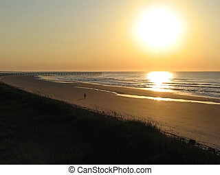 Tranquil Sunrise - Sunrise at Cherry Grove, SC.