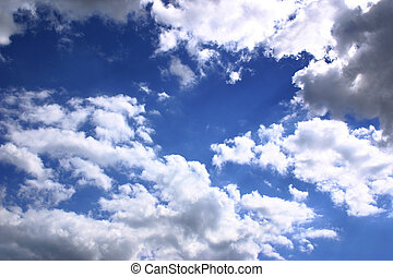 blue sky and clouds useful for a background