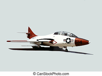 Panther Isolated - Korean War fighter jet