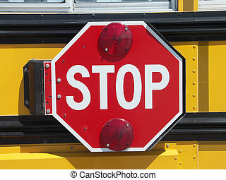 School Bus stop - School bus STOP sign
