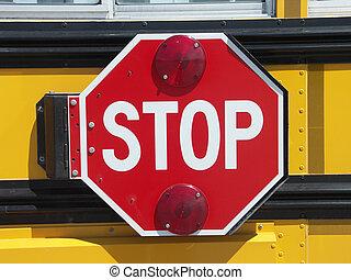 School Bus stop - School bus STOP sign