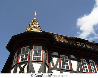 palatinate house - halftimbered vintager's house in...