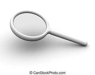 Magnifying Glass - 3d rendered image of a magnifying glass