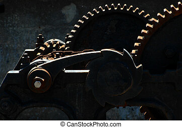 Gears for the lift - Mechanism for lifting sluice gates,...