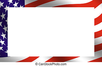 American Frame - Frame composed of the American flag