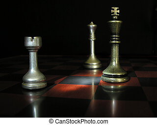 Chess - A game of pewter chess