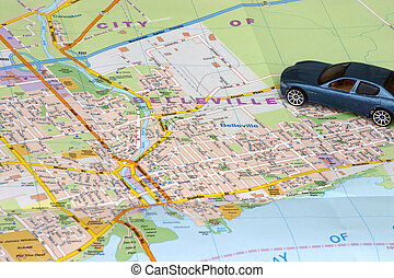 Map Belleville - Road map of Belleville Ontario