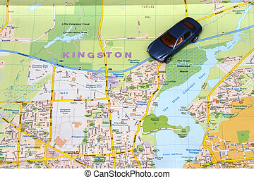 Map Kingston - Road map of Kingston Ontario