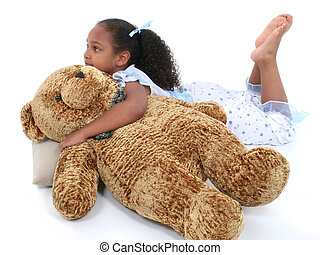 Child Girl Toy - Beautiful Six Year Old Girl Laying Down In...