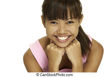 Happy Girl - A pretty young Malay girl with a great smile