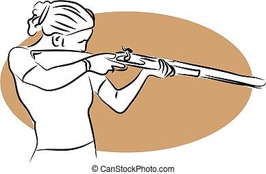 Dangerous Woman - woman with gun