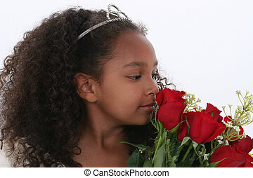 Girl Child Flowers