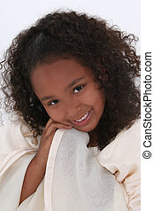 Girl Child Angel - Beautiful little six year old girl in...