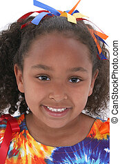 Girl Child Portrait - Close up of beautiful six year old...