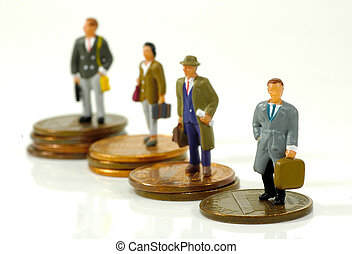 Little Business People - Miniature Business People Standing...