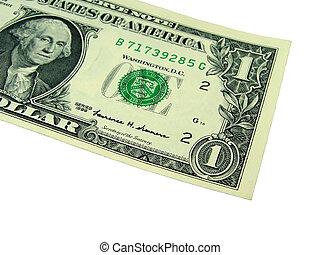 One Dollar Bill - one dollar bill isolation