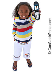 Girl Child Cellphone - Beautiful Six Year Old With Cellphone...