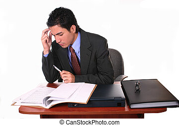 business documents - businessman studying documents