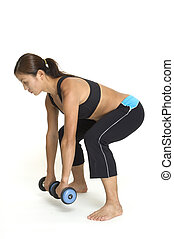Deadlift 3 - A female fitness instructor demonstrates the...