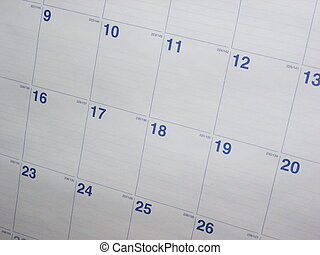 Calendar Background - A nice shot of a calendar month This...