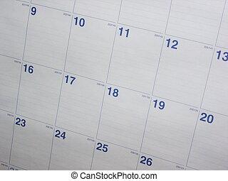 Calendar Background - A nice shot of a calendar month. This...