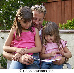 father and daughter - a father and his daugther share a...