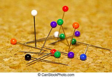 Pushpins - Photo of Pushpins on Cork