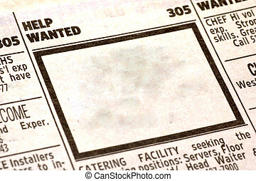 Help Wanted - Hep Wanted Section of Classifieds.