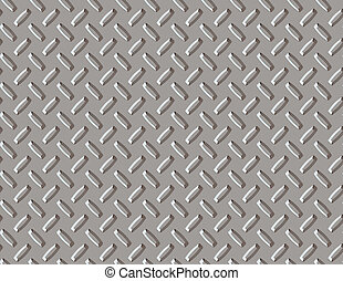 Seamless Background - Diamond plate background created in...