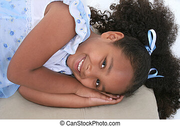 Girl Child Laying