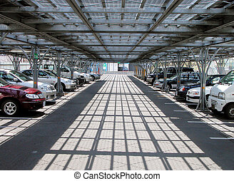 Cars parking - Lights,shadows and perspective in a cars...