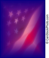 American Flag - Background design with the American Flag.