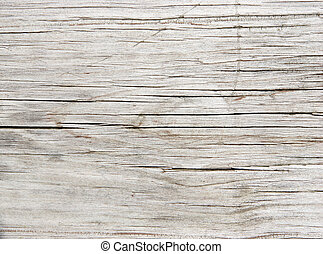 Faded Redwood Plank - Close-up of an old faded Redwood...