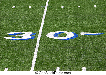 30 yard line at a football field