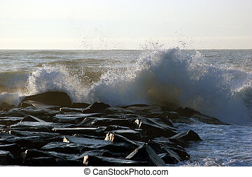 Wave Crashing - Early morning in Manasquan NJ 2005