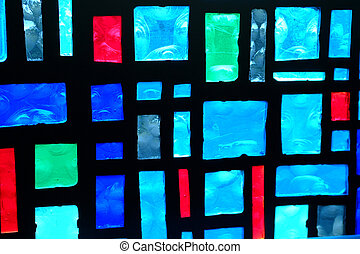 Details of Colors - Details in a stained glass window