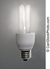 Idea symbol - Bright idea symbol with energy saving bulb
