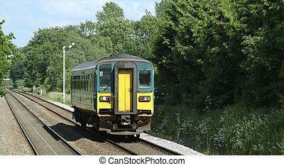 Rural train - Single coach rural train in Britain