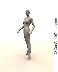 Mannequin - A (unemployed) Mannequin. 3D rendered scenery.