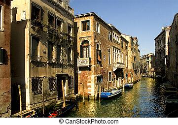 grandioso, canal, Veneza