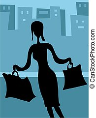 Shopping - woman shopper