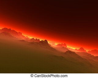 Like Hell - A creepy landscape / Horizon