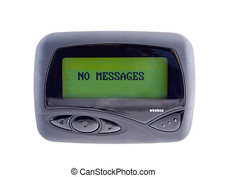 Wireless Pager - Wireless pager used to send and receive...