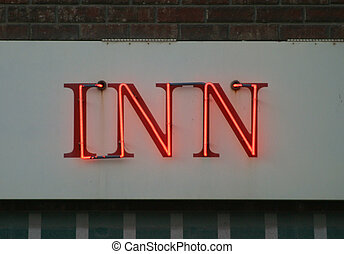 The word inn - A neon inn sign