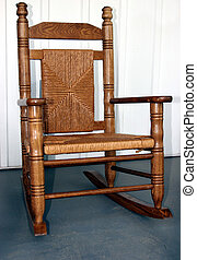 Childs Rocking Chair - Childs rocking chair in wicker &...