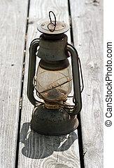 antiquité, huile, lampe