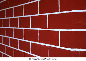 Red Bricks Wall - Wall of red bricks. Good for background...