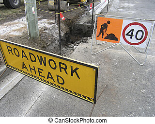 Construction disruption - Road works underway