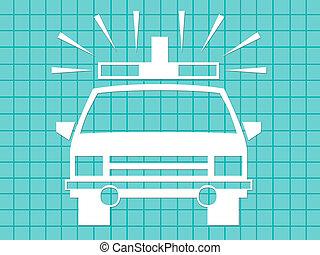 Ambulance - Front view of an ambulance